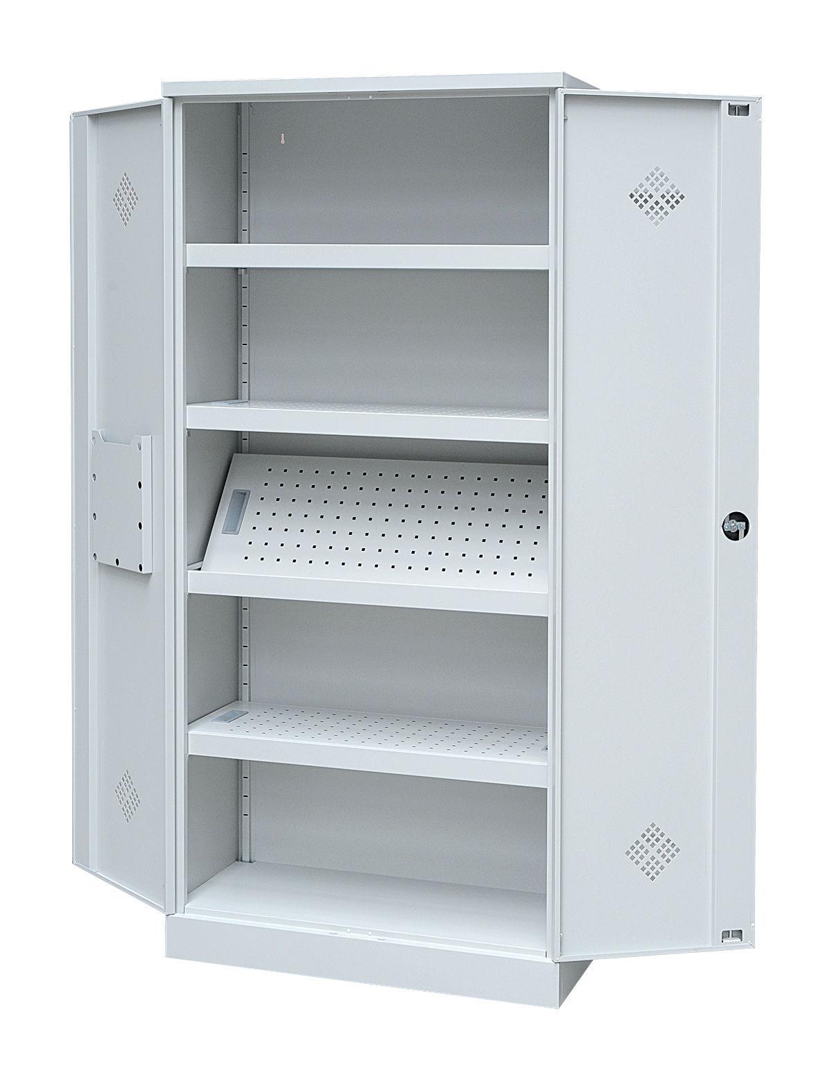 gs gefahrenstoffschrank chemikalienschrank sicherheitsschrank laborschrank grau ebay. Black Bedroom Furniture Sets. Home Design Ideas