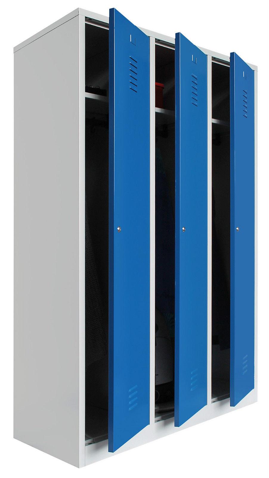 Kleiderspind Umkleidespind Doppelspind Spint Trennwand Reine/unreine Seite Blau Kunden Zuerst Medizin & Labor